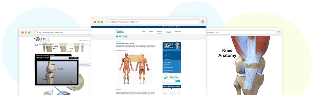 Patient education library for physical therapists
