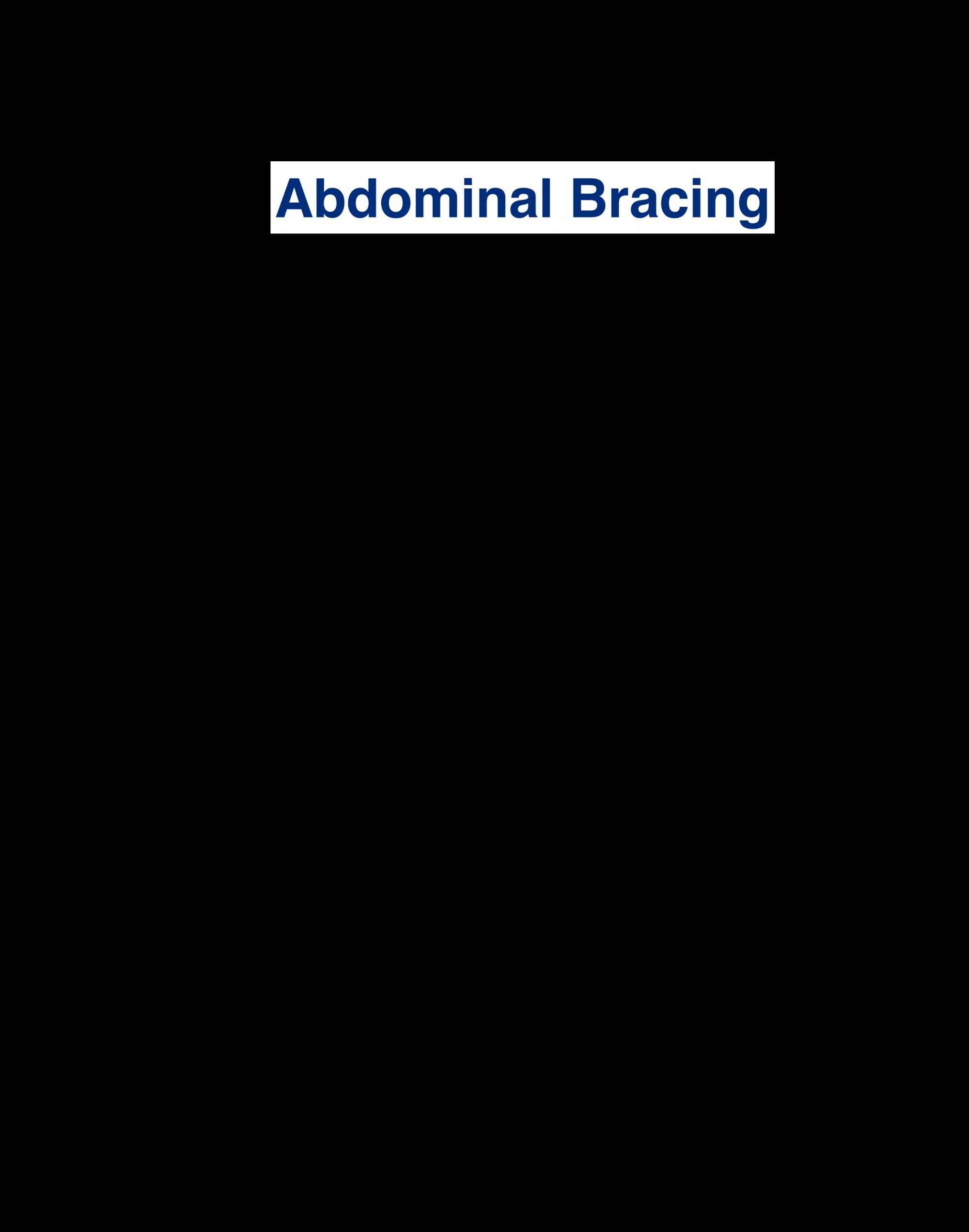 Abdominal Bracing