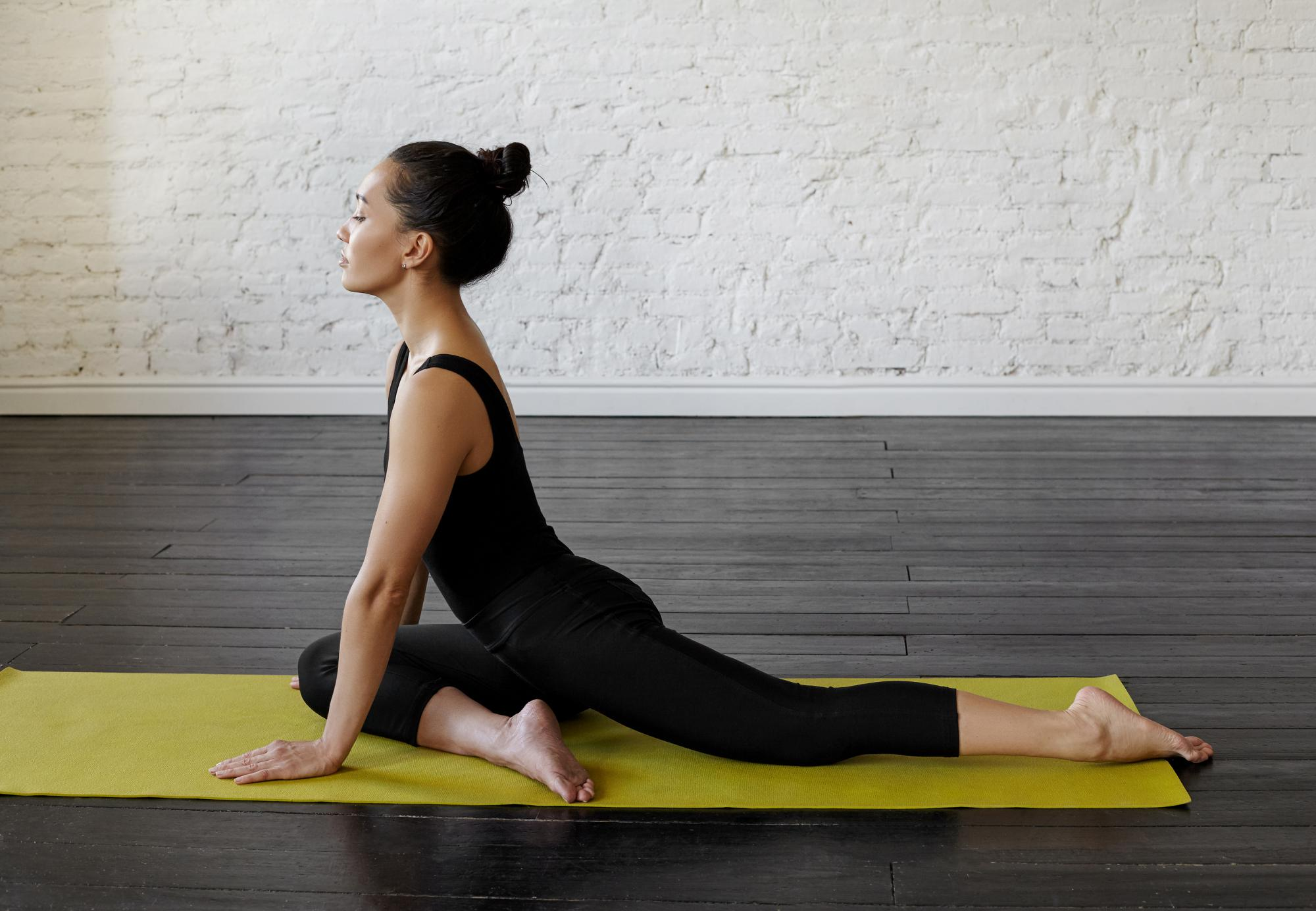 Glute stretches exercise pose