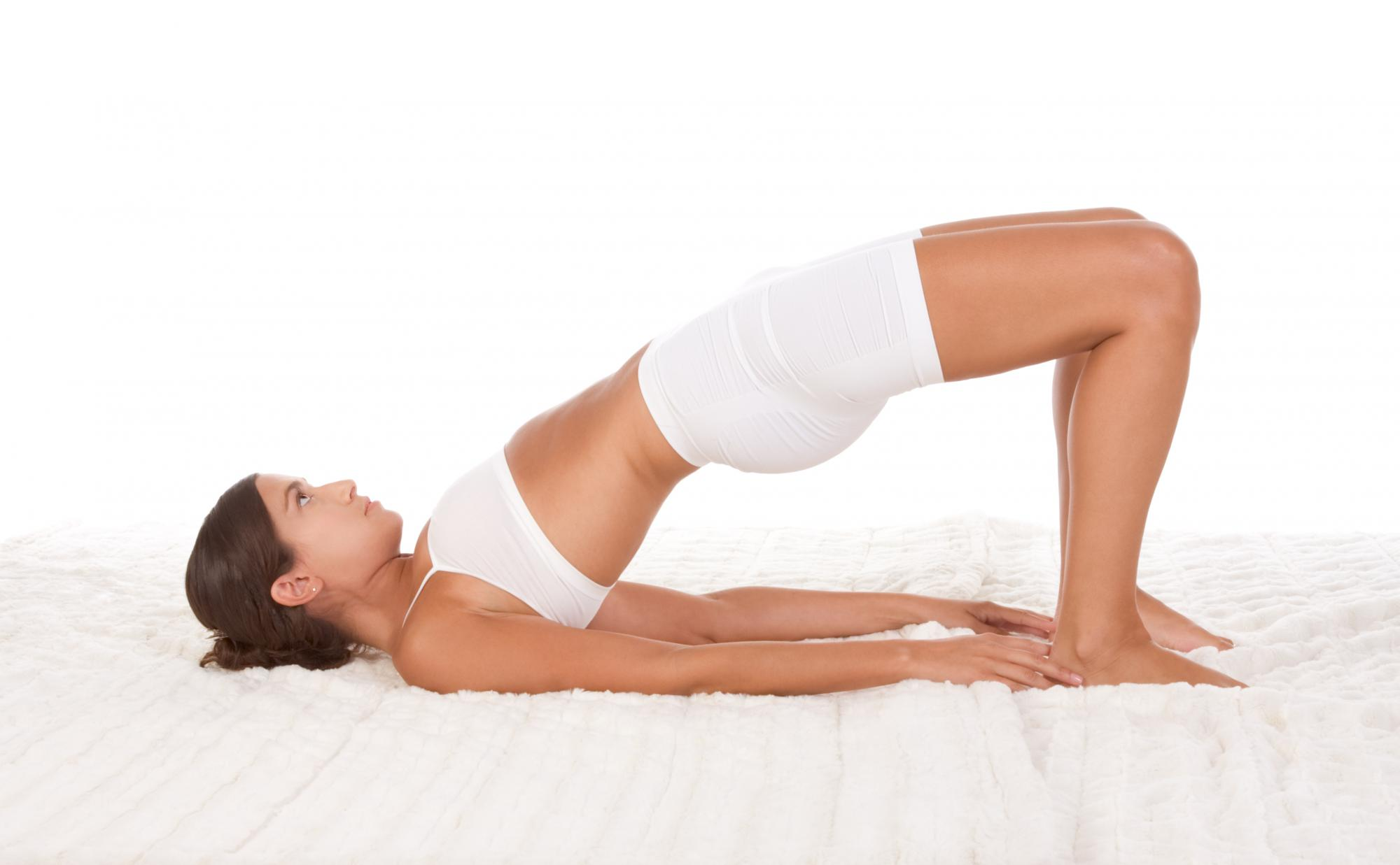 Bridge pose to relieve hip pain