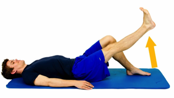 Front leg lift for treating hip pain