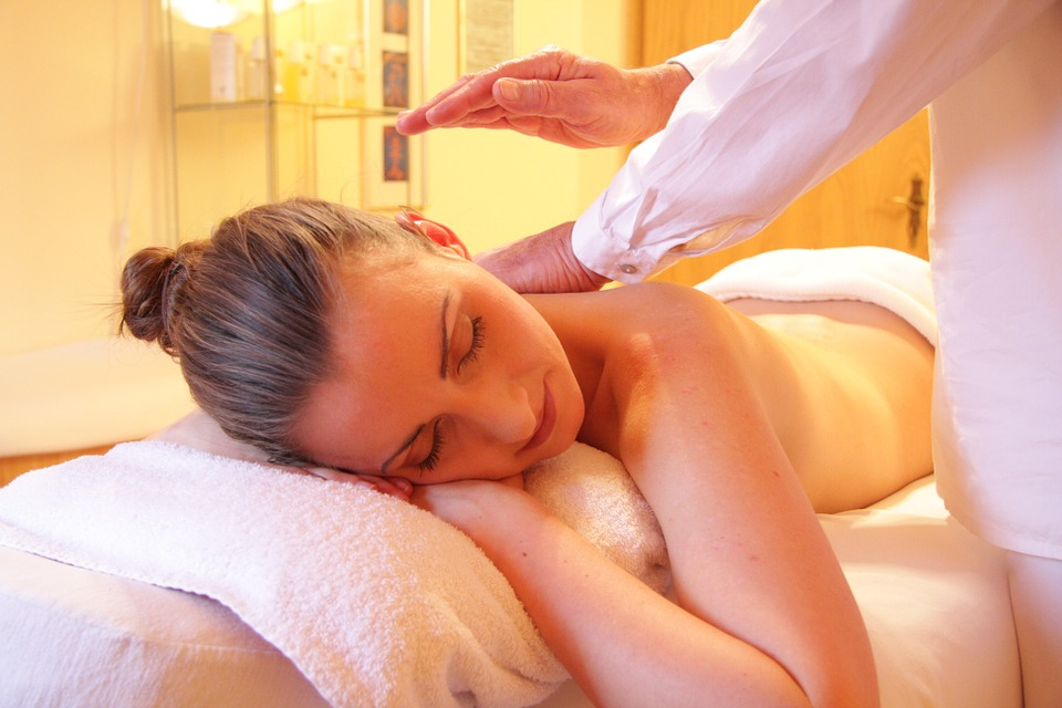 A female patient receiving physio therapy massage