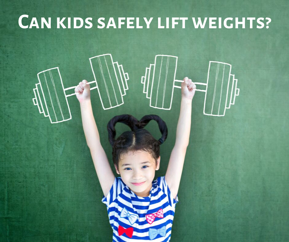 Can kids safely lift weights?