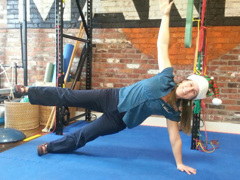 Side plank with arm & leg extension