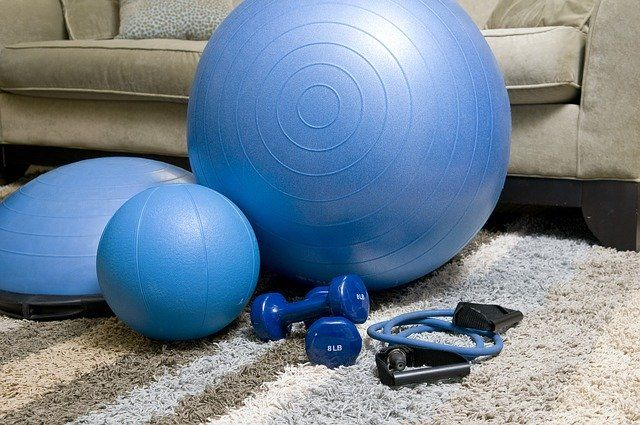 Working out from home equipment, PT at-home friendly.
